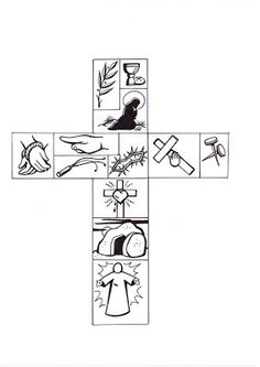 Krus to Pasku Bible Activities, Easter Activities, Holy Week Activities, Bible Story Crafts, Bible Stories, Easter Art, Easter Crafts, Easter Story, Religious Education