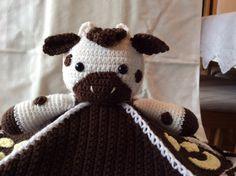 Вязание Корова и Луна Lovey Одеяло учебник от Teddywings на Etsy