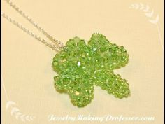 Beading Video: How To Make A Three Leaf Clover Pendant. (Somewhere they give, in print, the whole St. Patrick/ Shamrock= 3-leaf clover=trinity story. Shamrocks are 3-leaved, nt 4. How we change things!)