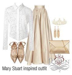 Mary Stuart inspired outfit/Reign by tvdsarahmichele on Polyvore featuring polyvore fashion style Altuzarra Jenny Packham Valentino Monsoon women's clothing women's fashion women female woman misses juniors