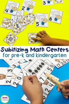 Subitizing is the ability to identify a small set of numbers quickly without actually counting. This skill is necessary for early math skills! We can begin to teach subitizing in our classrooms in Pre- K and Kindergarten as soon as children have a solid foundation of counting and one to one correspondence, since subitizing relies on counting sets of numbers and objects in a set. I'm excited to share with you today these Subitizing Activities and Centers for Pre-K & Kindergarten!