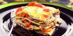 Lasagne met aubergines, champignons, mozzarella