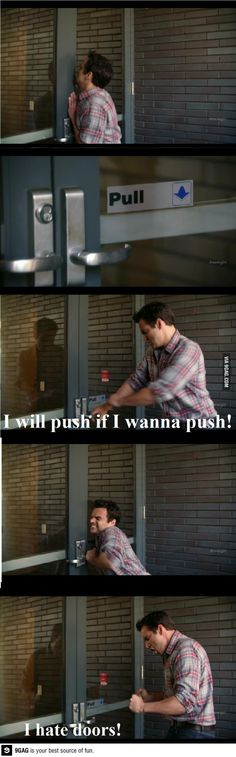 That used to be me, sometimes still is, lol, nick miller from new girl, funny show! Nick Miller, Tv Quotes, Movie Quotes, Girl Quotes, Plus Tv, Lol, Book Tv, Film Serie, I Laughed