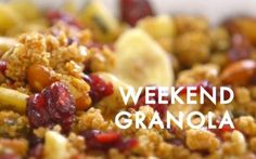 Look at this recipe - Weekend Granola - from Siba Mtongana and other tasty dishes on Food Network. Food Network Uk, Food Network Recipes, Cooking Tv, Cooking Recipes, Sibas Table Recipes, Great Recipes, Favorite Recipes, Yummy Recipes, Healthy Recipes