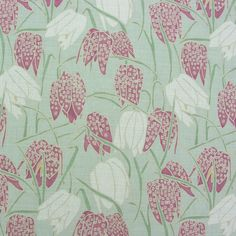 Fritillary flower print on 100% Linen Fabric for home furnishings