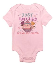 Look at this CafePress Pink 'Just Hatched' Bodysuit on #zulily today!
