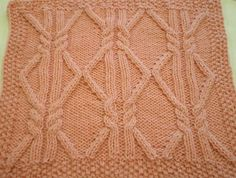 Ravelry: October Aran Afghan Square (Woolen Collectibles) pattern by Marin Melchior