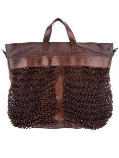 Numero 10 brown leather Mercurio bag 1