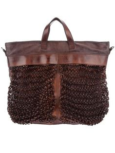 Numero 10 brown leather Mercurio bag 1