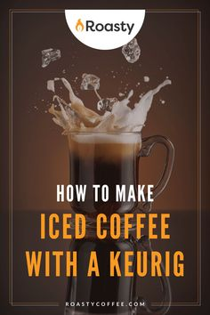 If you're trying to avoid paying money for an iced coffee when you already have a Keurig at home, you've come to the right place! It's 100% possible and surprisingly easy to do! Use our how-to guide to find out tips and tricks we've put together so you can get the most out of your home-brewed iced coffee. #coffeelovers #icedcoffee #roastycoffee #keurigcoffee Thai Iced Coffee, Vietnamese Iced Coffee, Coffee Drinks, Making Cold Brew Coffee, How To Make Ice Coffee, Coffee Course, Coffee Brownies, Nitro Coffee, Coffee Is Life