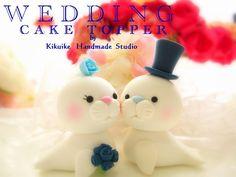 LOVE ANGELS Wedding Cake Topper-love seal | oleh charles fukuyama
