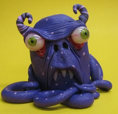lowbrow one of a kind tentacle octopus monster by mealymonster