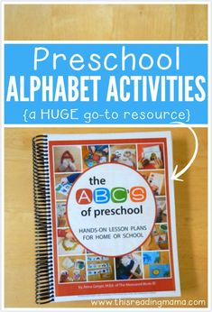 Preschool Alphabet Activities {a HUGE go-to Resource} ~ easy to follow ideas for teaching the alpahbet to your preschooler from The Measured Mom