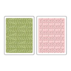 Sizzix Textured Impressions Embossing Folders 2PK - Evergreen & Snow Flowers Set $10.99