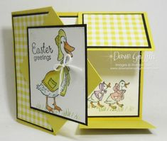 2019 VIDEO Two for Thursday ~ Dutch Door card videos - Dawn's Stamping Thoughts Birthday Cards For Friends, Funny Birthday Cards, Fancy Fold Cards, Folded Cards, Card Making Tutorials, Making Ideas, Dawns Stamping Thoughts, Kids Cards, Baby Cards