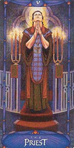 THE PRIEST - ART NOVEAU TAROT