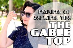 Want to see The Gable Top in action? Check out Bianca's amazing video showing her making and wearing her Gable top. Sewing Hacks, Sewing Ideas, Sewing Patterns, The Gables, Knitting Designs, How To Plan, How To Make, Mens Sunglasses, Action