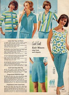 Cheerfully fun, beautifully hued summer fashions from 1965.