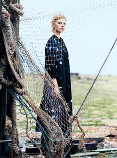 Where the Sea Meets the Sky -  Ola Rudnicka by Koto Bolofo for Harper's Bazaar UK April 2016 Magazine Editorial, Editorial Fashion, Gone Fishing, Harpers Bazaar, Savannah Chat, Fashion Photography, Editorial Photography, Women, Fashion Editorials