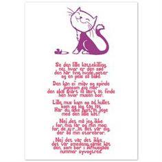 Børneplakat - Se den lille kattekilling