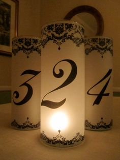 For Kristin  17 Decorative Damask Luminary Table by CupcakePrints