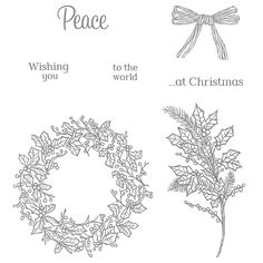 Peaceful Wreath Stamp Set, Stampin' Up! 2015-2016 Holiday catalog