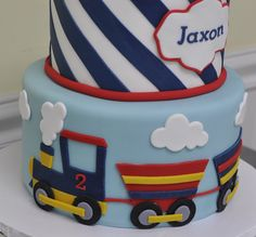 https://flic.kr/p/qNGkVo   Vintage train cake   Train themed birthday cake