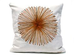 Decorative Pillow  Decor Drawing Hand painted by Beccatextile, €25.99 #pillow #decorative