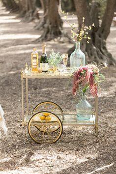 adorable bar cart