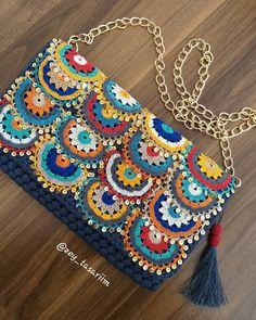 Love Crochet, Knit Crochet, Crochet Wallet, Mochila Crochet, Grandmothers Love, Macrame Bag, Knitted Bags, Diy Accessories, Knitting Stitches