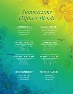 Summer is almost over! Enjoy what's left of it with these beautiful diffuser blends.