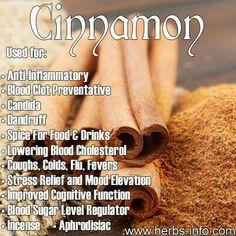 Cinnamon health benefits.  For more information, please visit www.unlimitedenergynow.com.