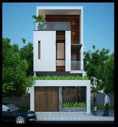 Mặt tiền của dự án thiết kế nhà phố nhỏ đẹp sang trọng ở Tỉnh Cao Bằng