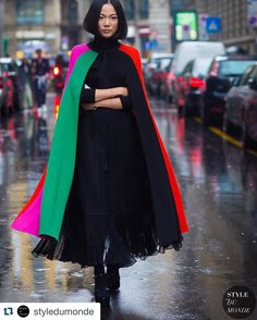Fashion's Caped Crusader. @yoyokulala @styledumonde #mfw #milanfashionweek…