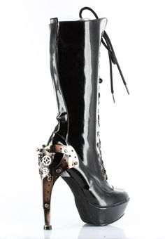 d3d899f0dba2 Lace-up Steampunk Gothic Metal Heel Platform Boots.. THESE ARE HOT!  Steampunk