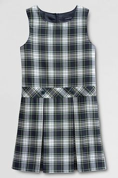 Girls' Uniform Plaid Jumper    - White Plaid, 12 from Lands' End on Catalog Spree, my personal digital mall.