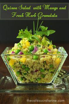 The Café Sucré Farine: Quinoa Salad with Mango and Fresh Herb Gremolata