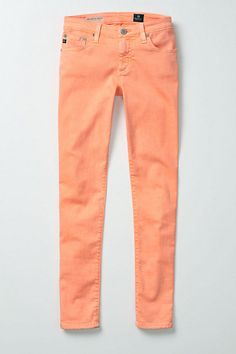 Peach Pants - AG Neon Stevie Ankle available at Anthropologie