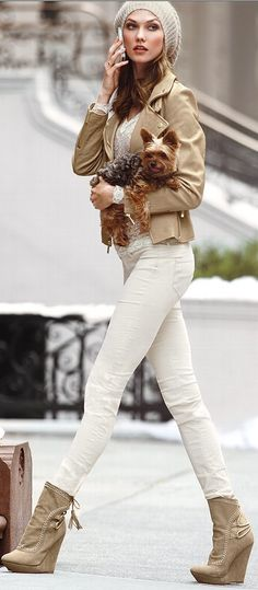 love the outfit, but please ladies... why use these beautiful dogs as accessories?