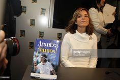 Arantxa Sánchez Vicario during the presentation of her book 'Arantxa !Vamos!' on February 14, 2012 in Barcelona, Spain. In the book, Arantxa reveals the factors that led to her success on the Women's Tennis tour. Arantxa retired in 2002, and was elected to the Hall of Fame five years later.