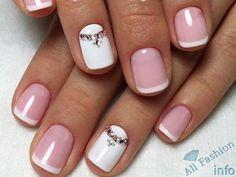френч на коротких ногтях (2)