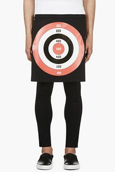 Givenchy Black Target Print Apron Skirt for men | SSENSE