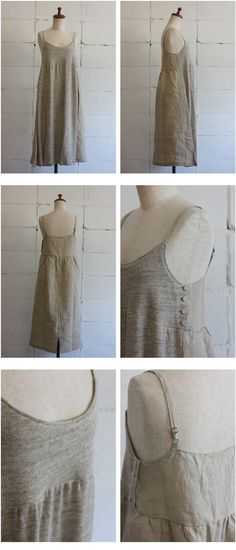 Mail order site - cotyle-Kochire and nisica LOLO maomade evameva EEL mizuiro-ind - Natural: SUR MER heather jersey linen change one piece co ...