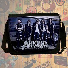 NEW HOT!!! Asking Alexandria Messenger Bag, Laptop Bag, School Bag, Sling Bag for Gifts & Fans #02