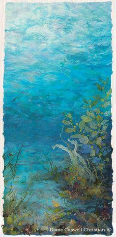 Underwater Sanctuary nuno felt collage - Northeast Feltmakers Guild