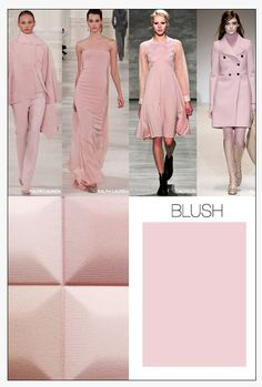 Fashion is always my inspiration! Love the blush tones for 2015!