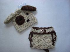 Baby+boy+Puppy+Hat++diaper+cover+set+crochet+by+OtiliaBoutique,+$30.00