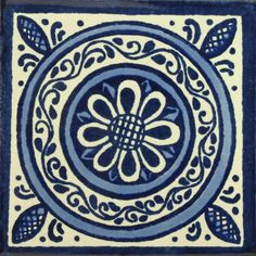 Decorative Mexican Tiles Ceramic Mexican Tile  Sunflower V  Products