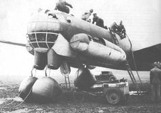 The Ju 287 project started in June 1943. The aircraft was to have had swept-back wings and four turbojets, one beneath each wing and one on either side of the forward fuselage. However, the low spe…