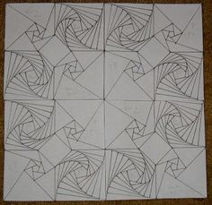 I think it's great that you combined TYPES of spirals — pinwheel and point-to-point — while keeping the same shape. Same shape, but a VERY different effect.